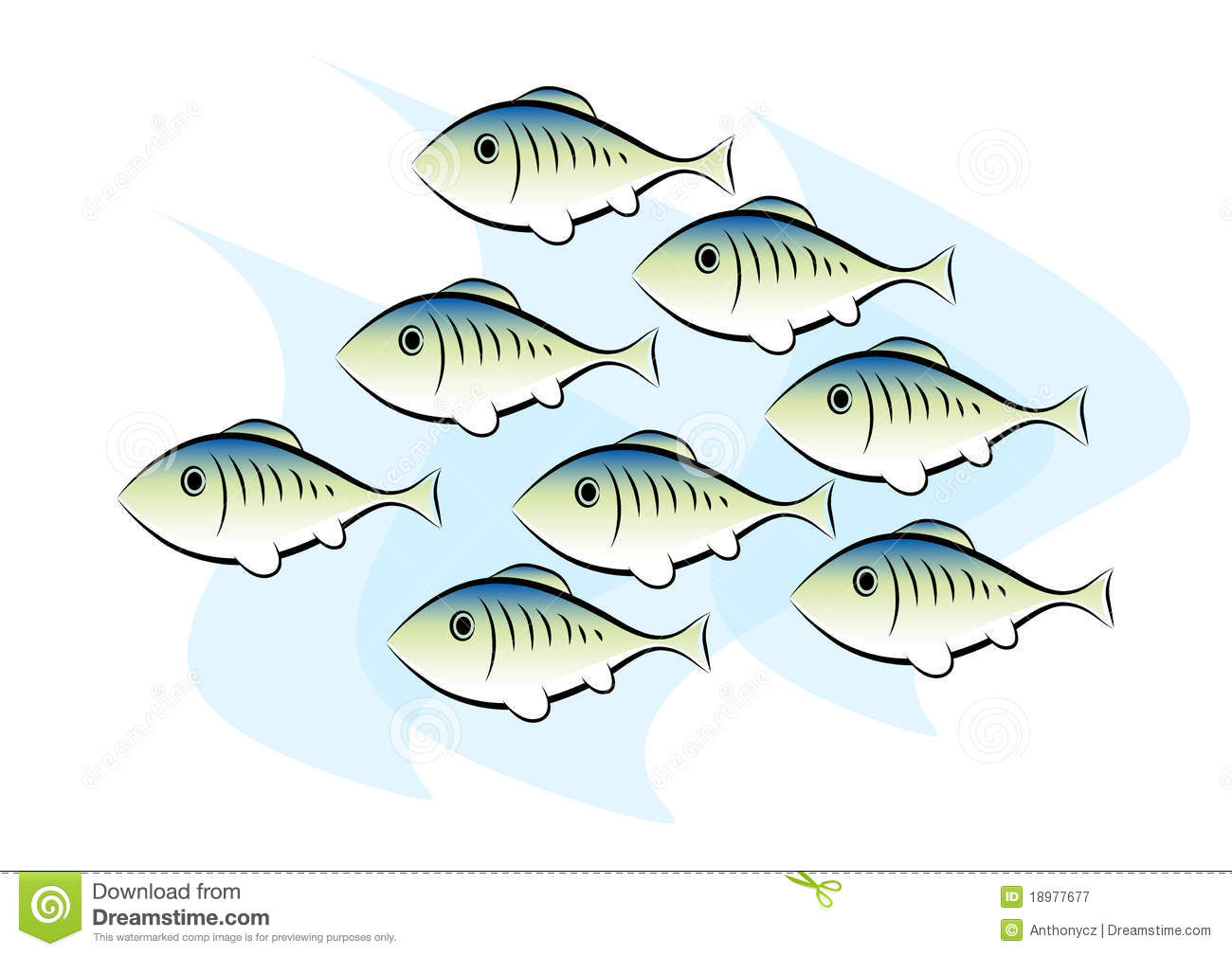Clip-art of fish stock vector. Illustration of underwater ...