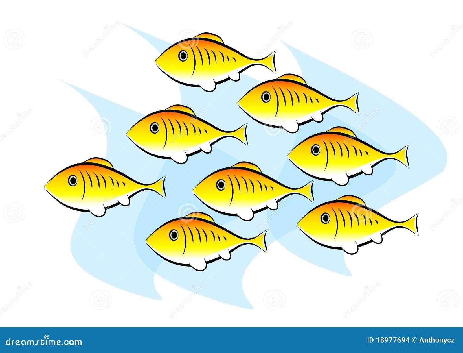 clip art of fish stock vector illustration of water 18977694 rh dreamstime com school of fish clipart free school of fish clipart free