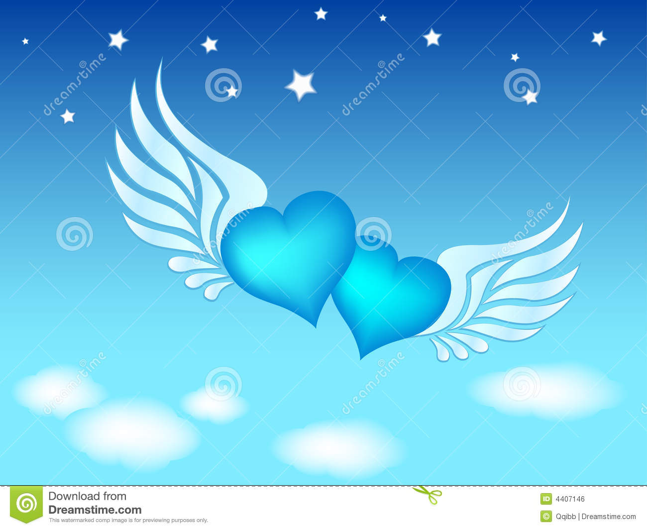 Clip-art Of Flying Hearts Royalty Free Stock Image - Image: 4407146