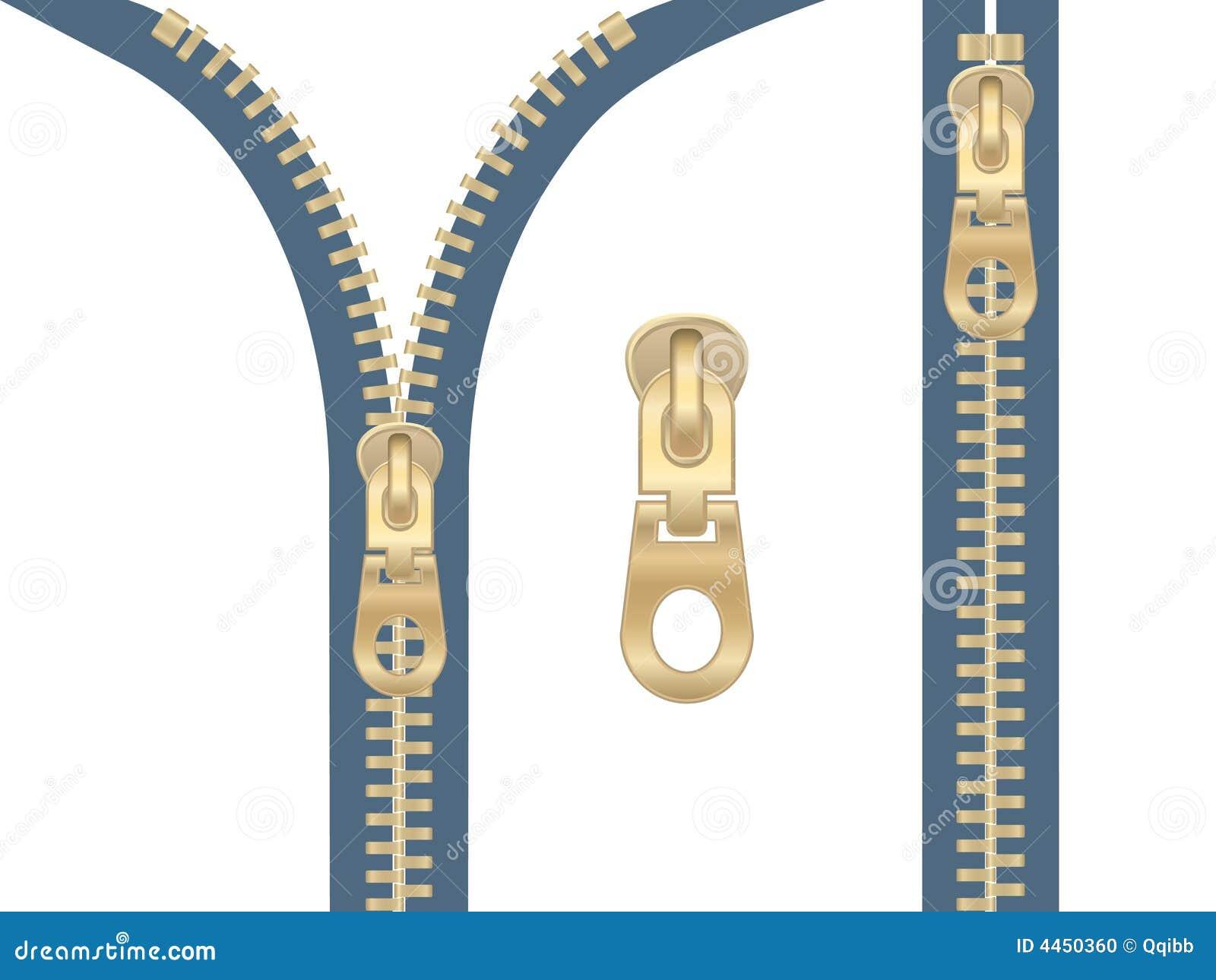 Vector Drawing Lines Zip : Clip art of metal zipper stock vector illustration