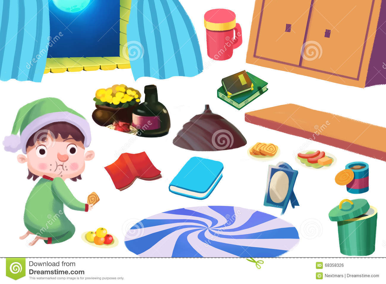 Play kitchen clip art - Clip Art Set The Kid Food And Family Kitchen Stuff