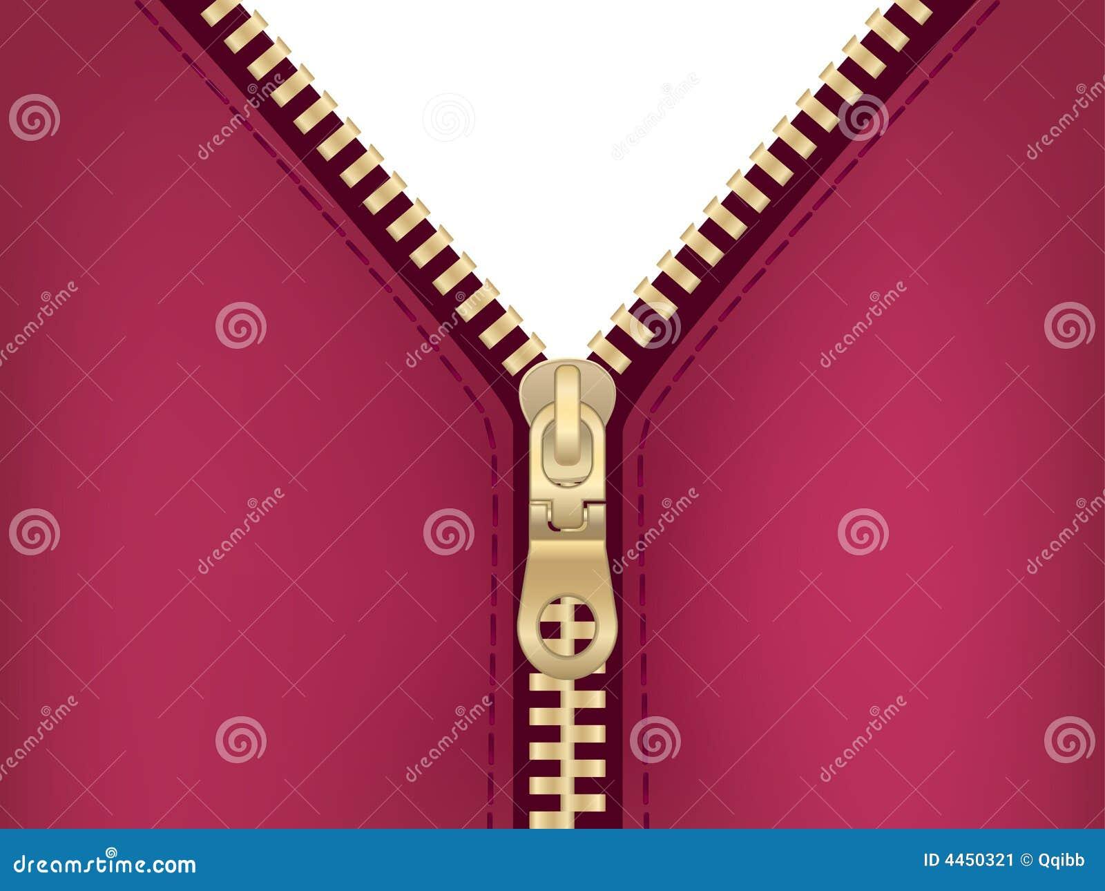 clipart of zipper on jacket stock image image 4450321