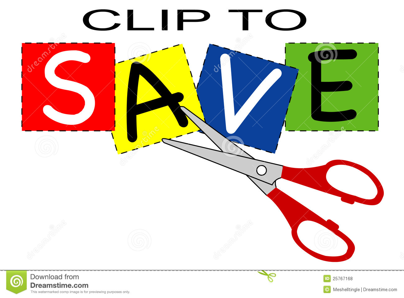Clip To Save Royalty Free Stock Photos - Image: 25767168