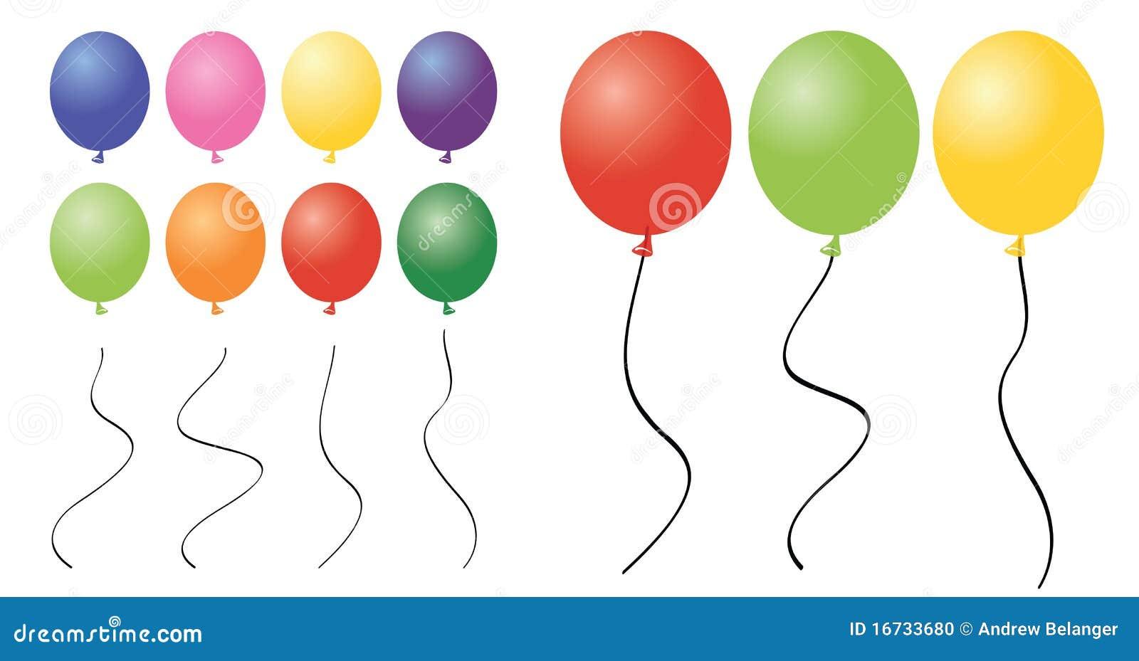 Clipart balonowi kawałki