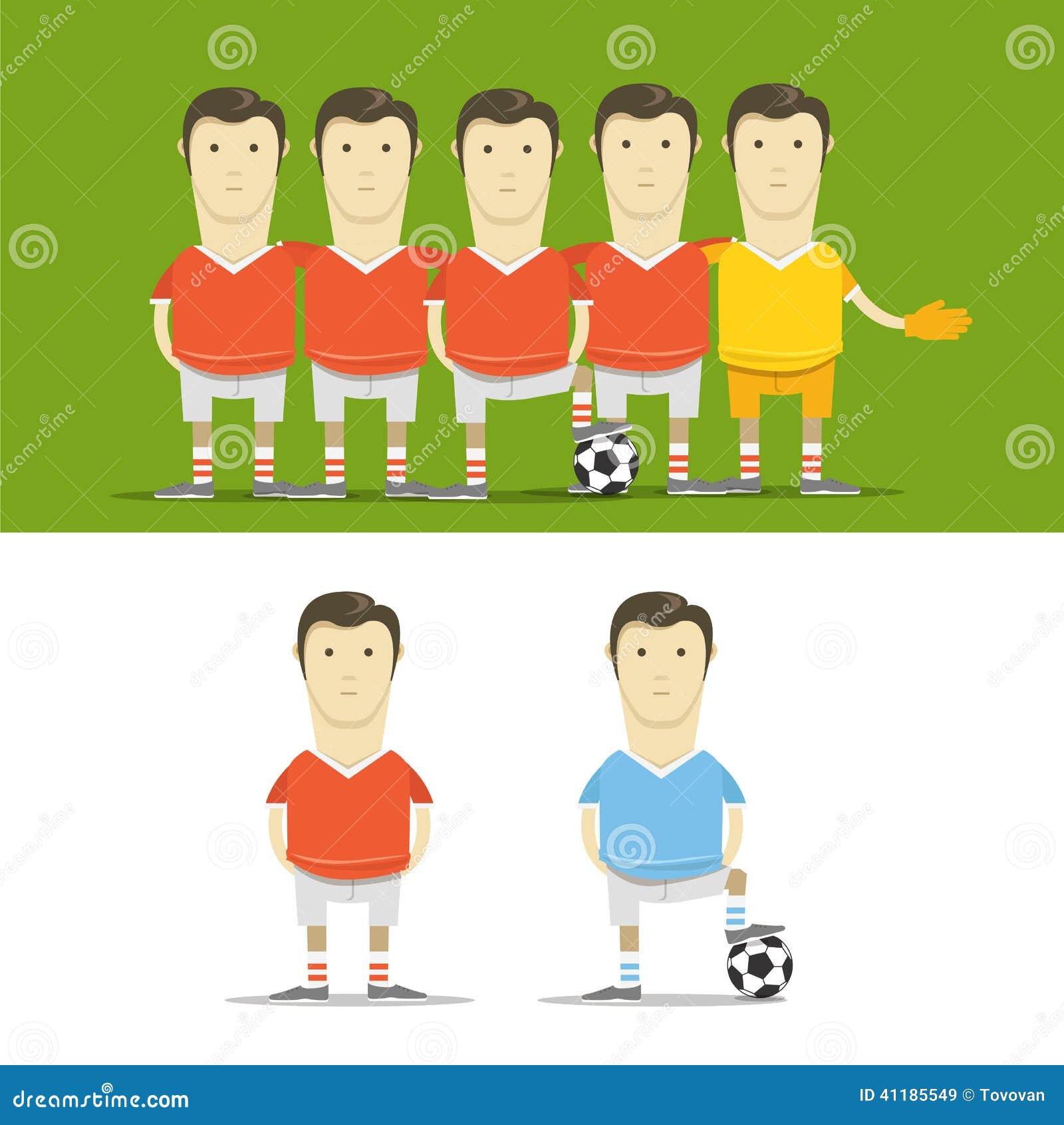 Clipart Da Equipe De Futebol Ilustração Stock - Ilustração de jogo ... 9319bf89ab577