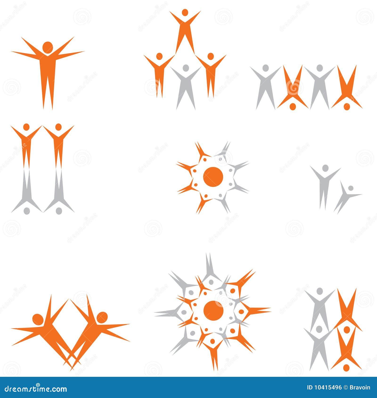 Clipart de la gente para las insignias
