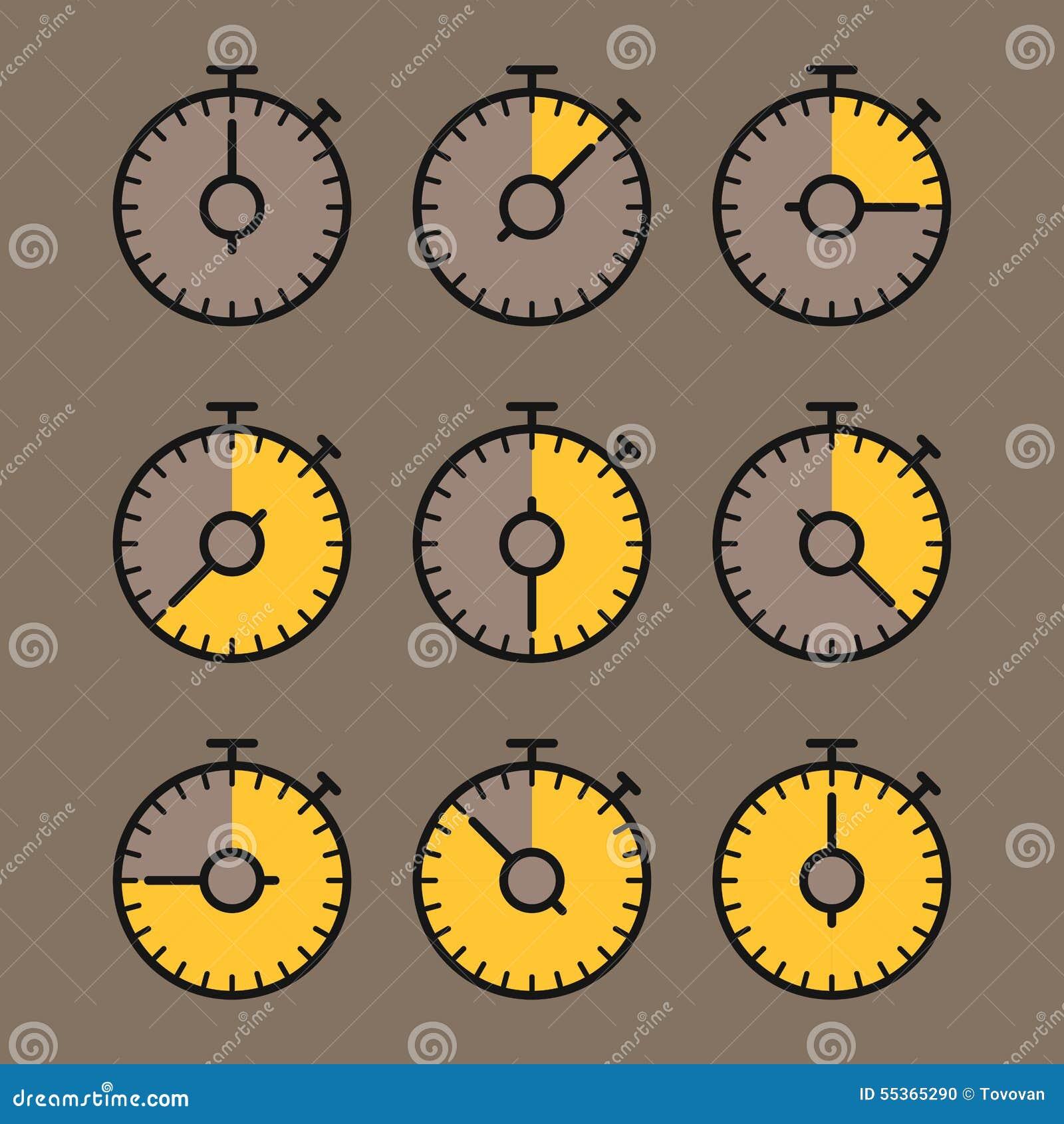 Clipart del cronometro di vettore