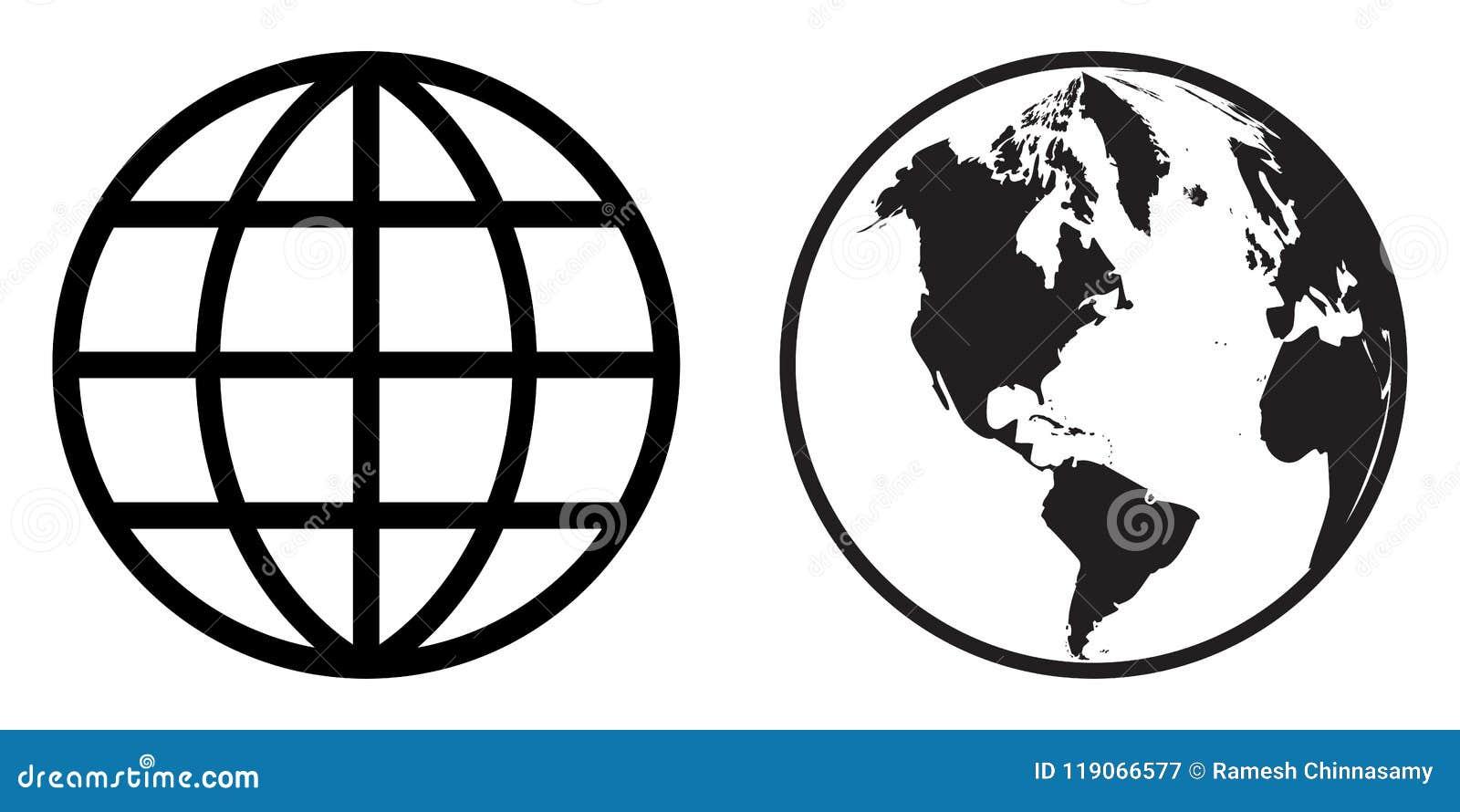 Clipart do ícone do globo do mundo