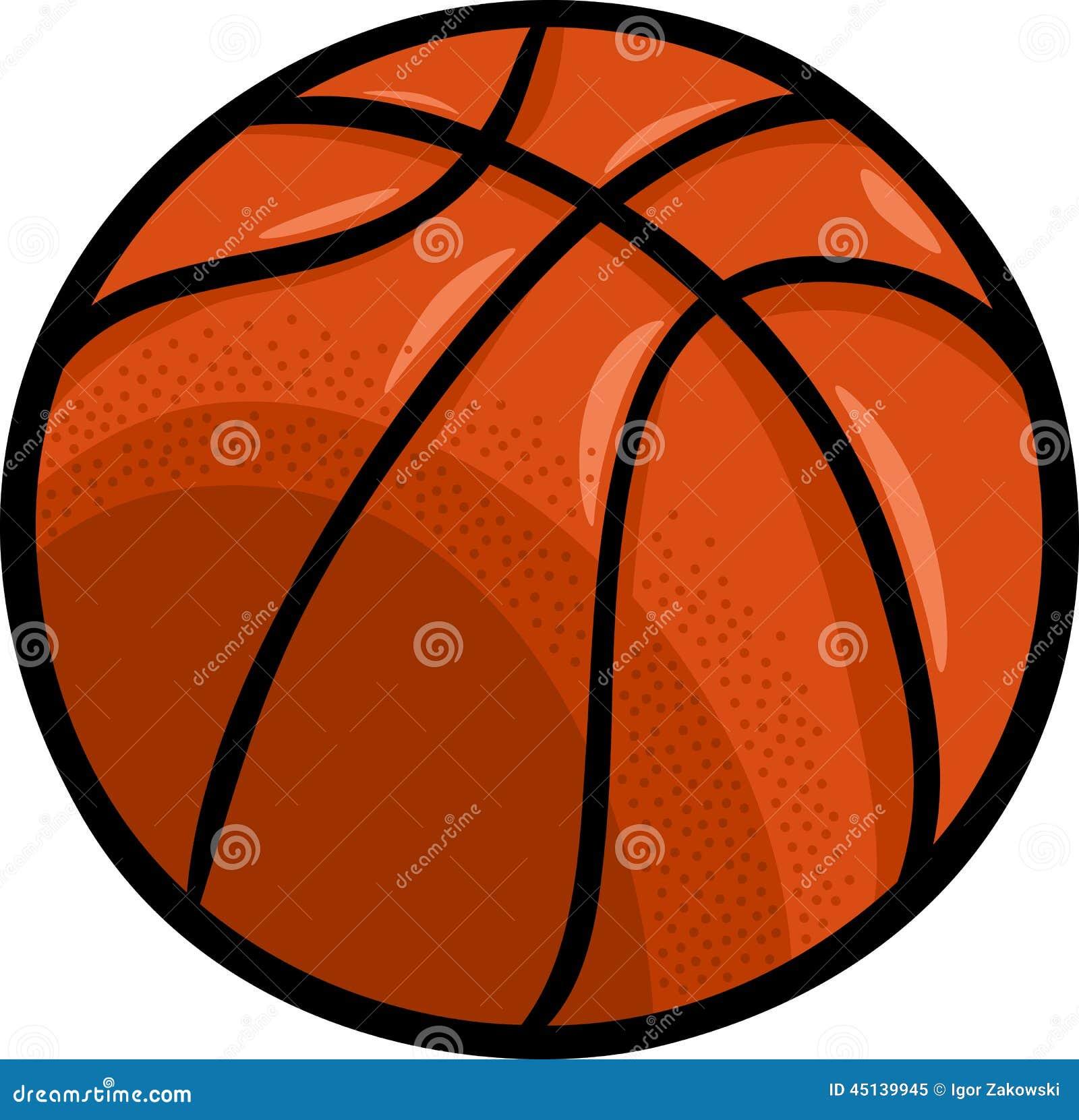 clipart dos desenhos animados da bola do basquetebol ilustração do