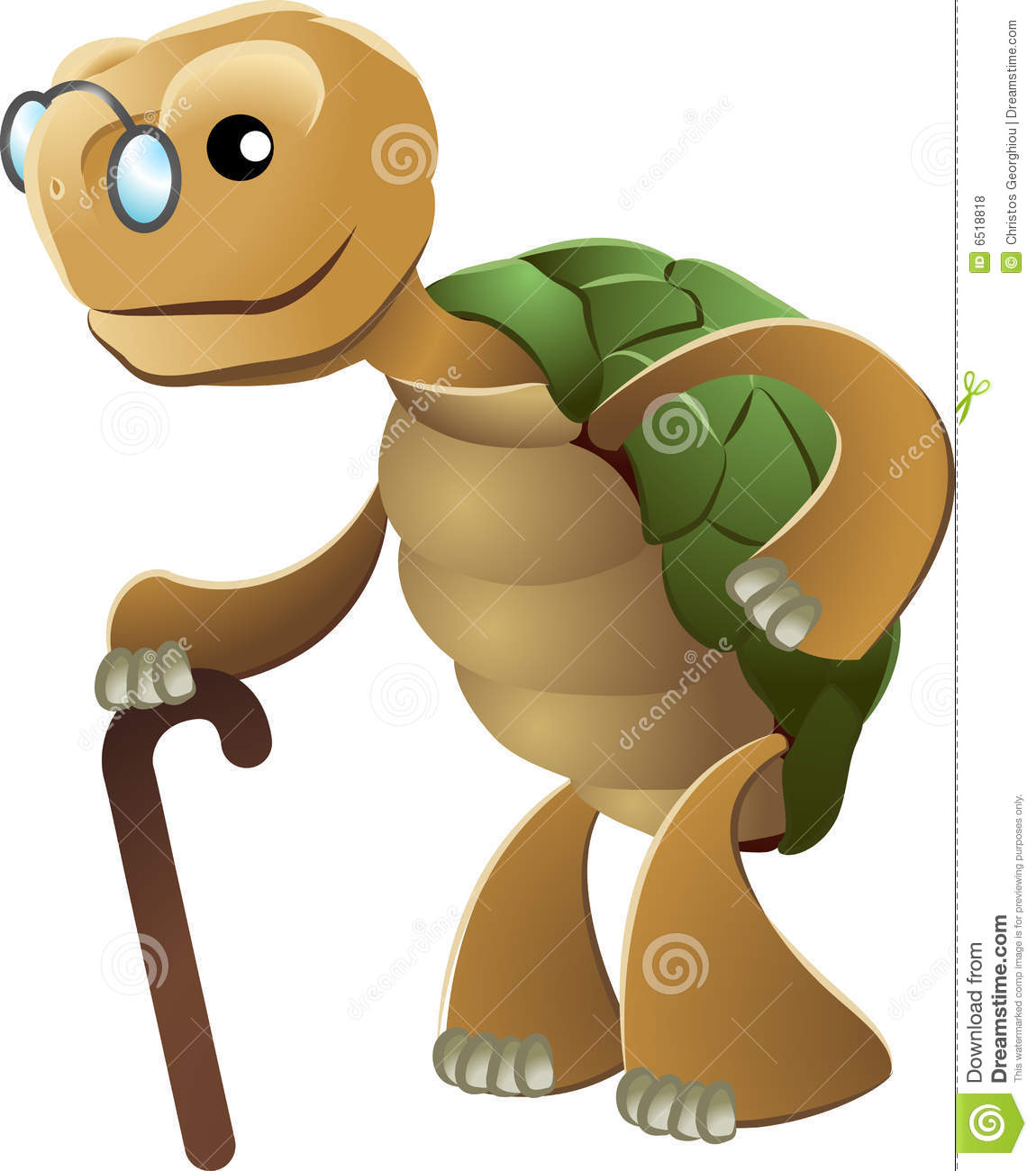 Clipart Of Elderly Tortoise Royalty Free Stock Photos - Image: 6518818