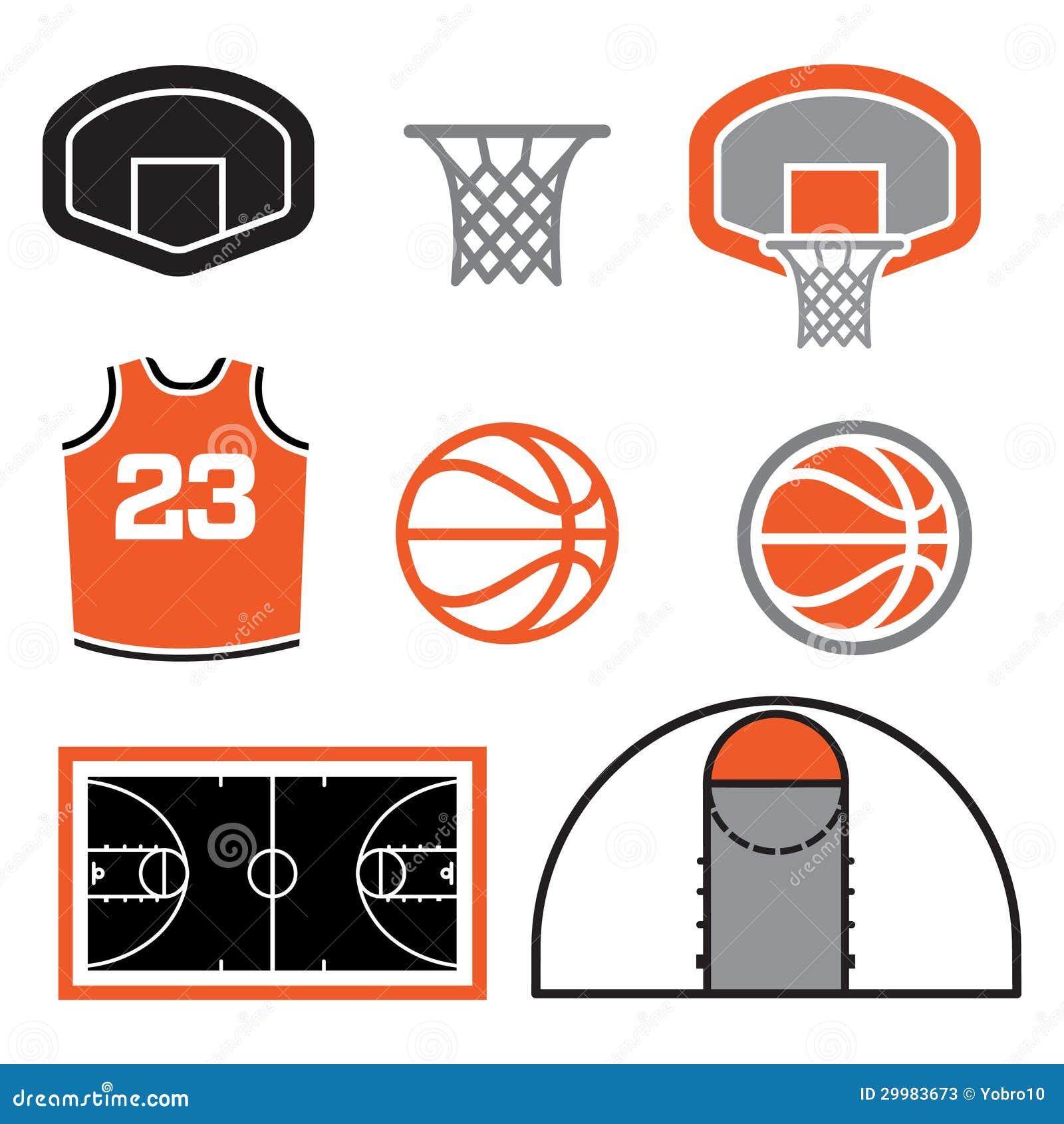 Basketball Elements Illustration Stock Vector Illustration Of