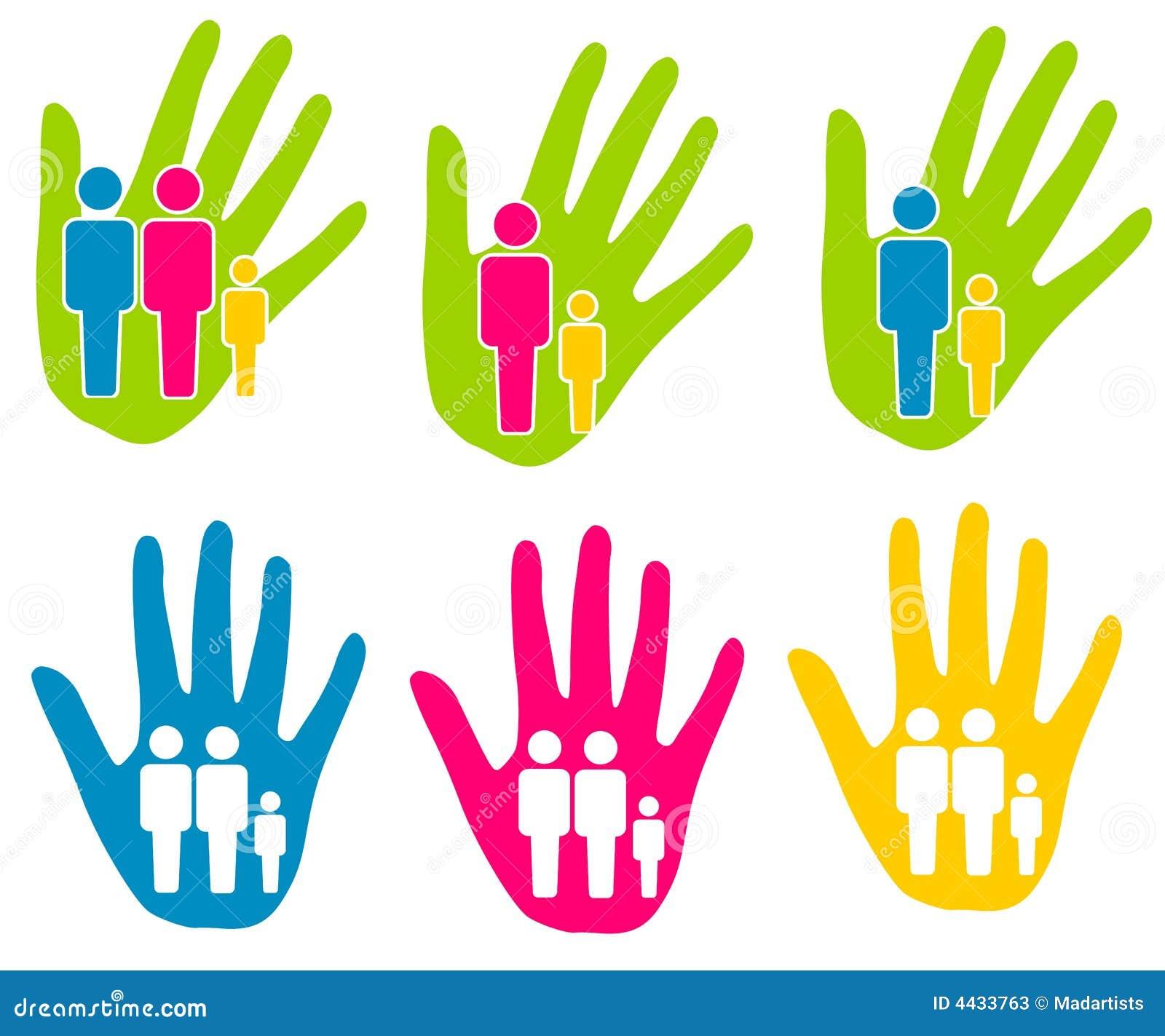 Clipart Famille clipart (images graphiques) d'aide de support de famille