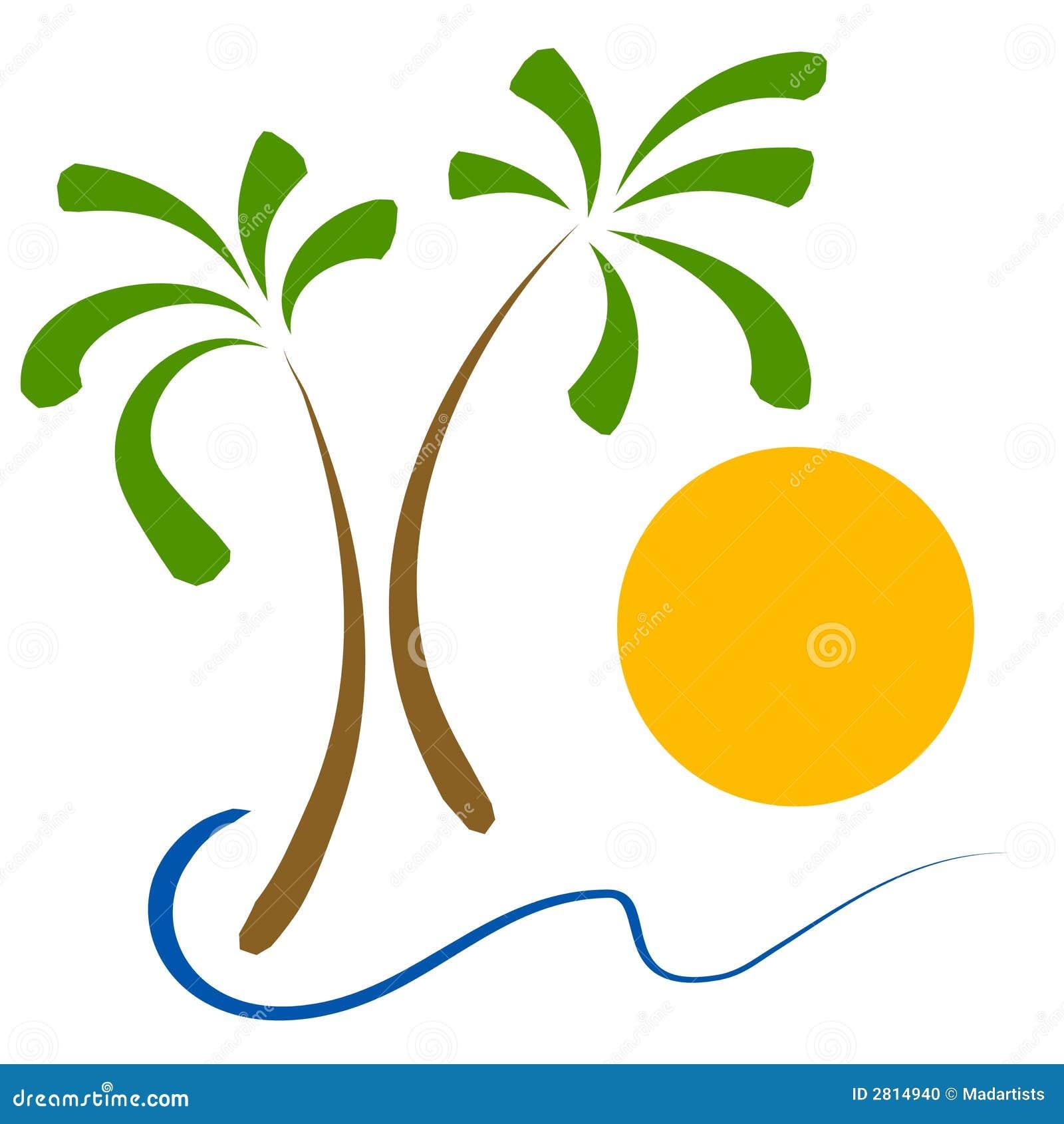 Clipart images graphiques de sun de plage de palmiers photo stock image 2814940 - Palmier clipart ...