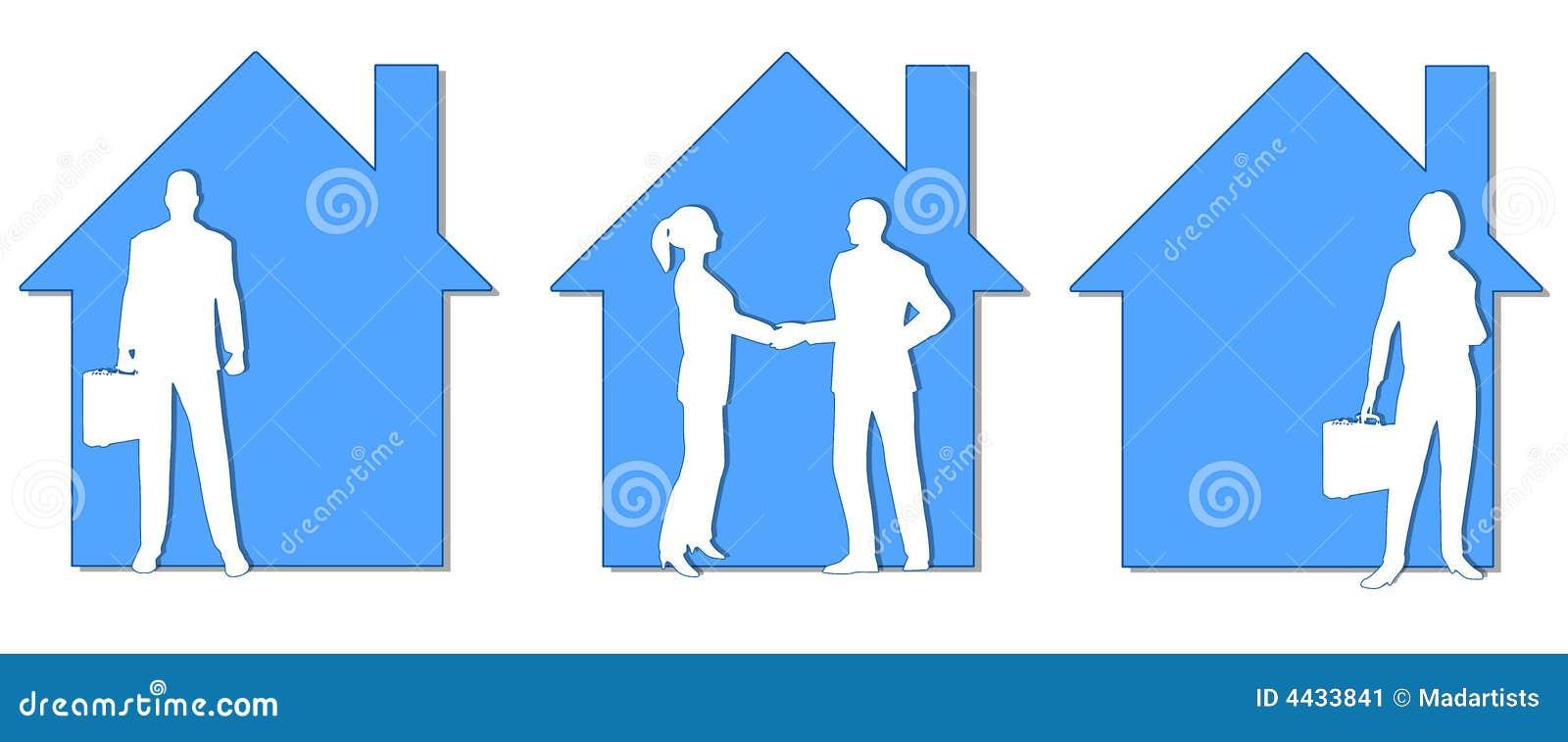 Clipart (images graphiques) réel d agents immobiliers