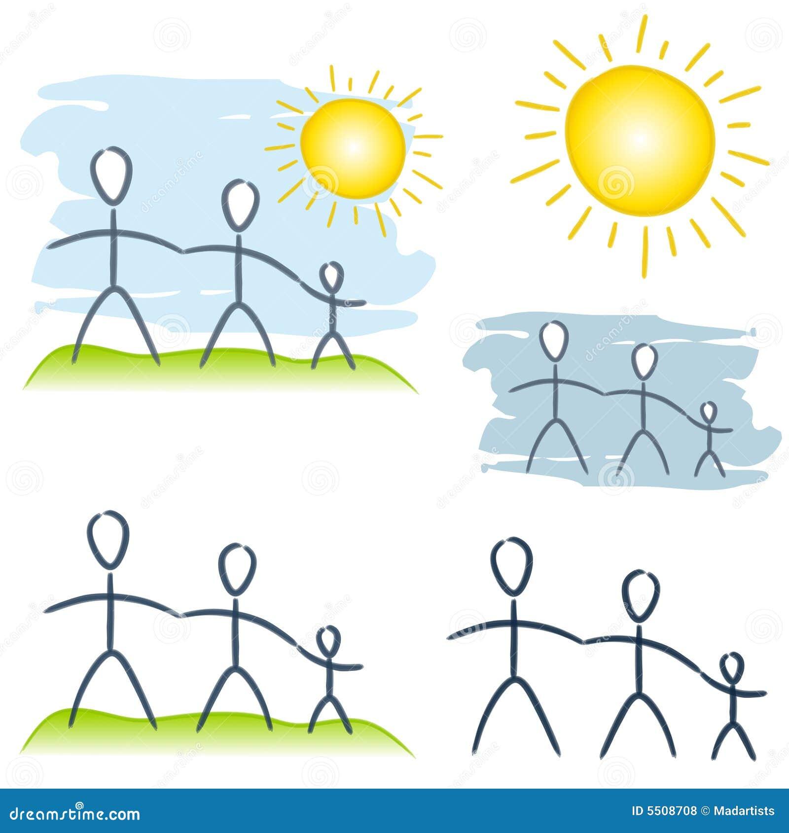 Clipart Famille clipart (images graphiques) simple d'élément de famille illustration