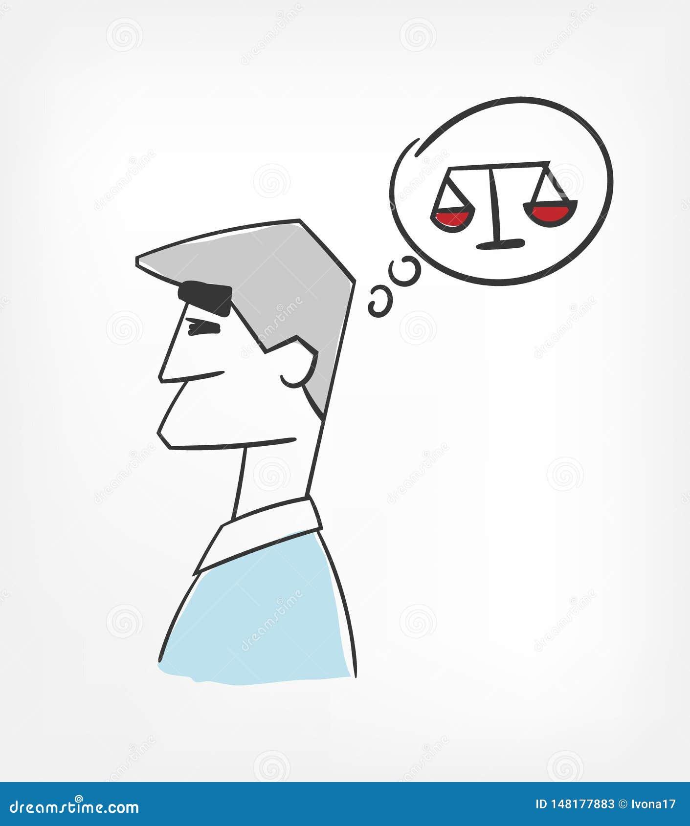 Clipart pesato di concetto dell illustrazione di concetto di vettore di decisione