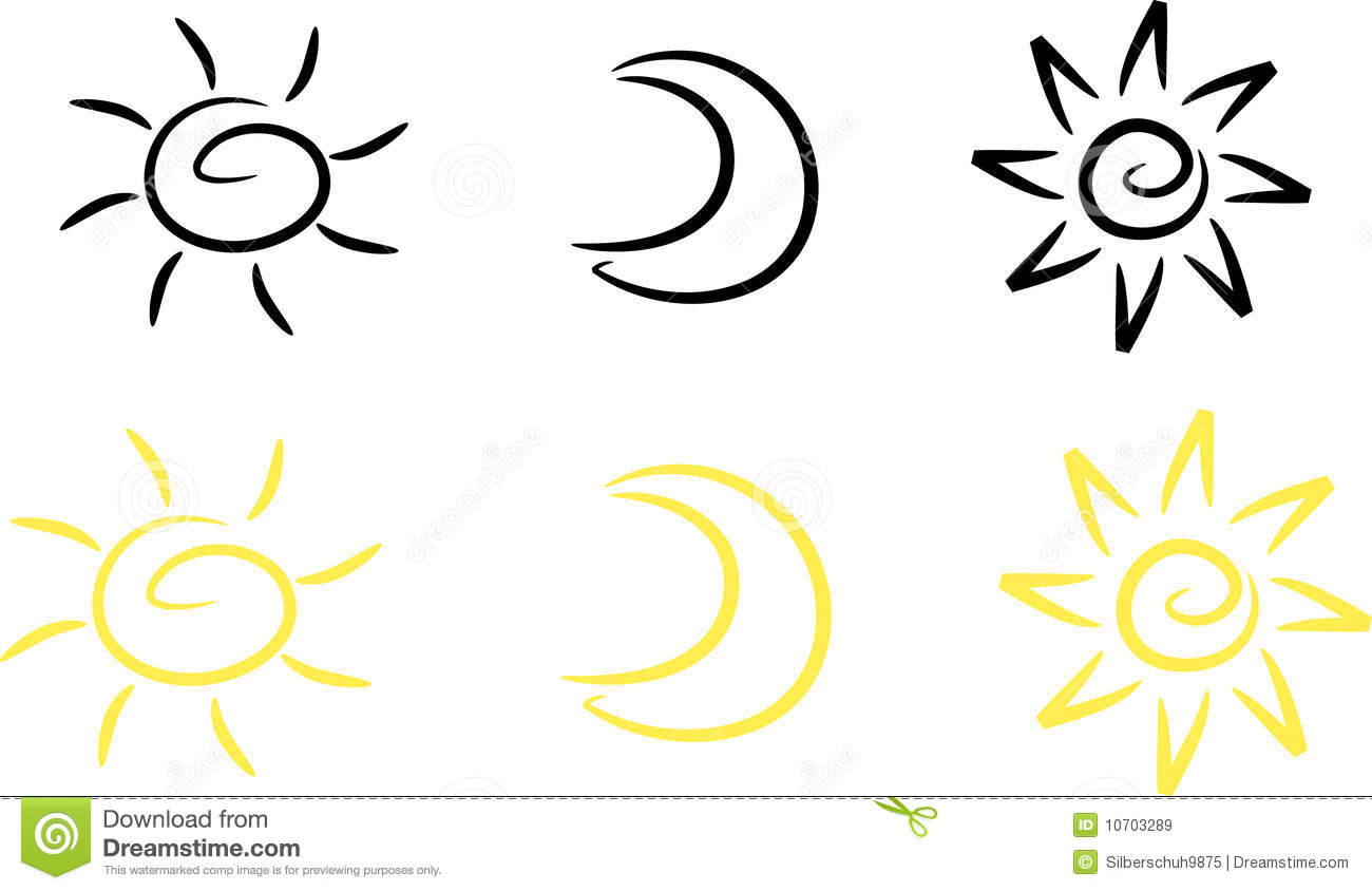 Clipart set sun moon and star stock vector illustration of icon clipart set sun moon and star biocorpaavc Images