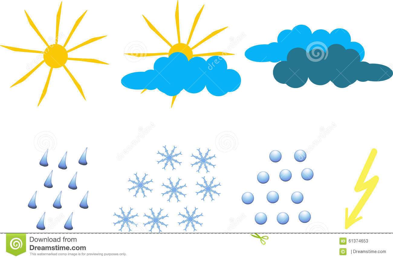 Clipart For Weather Icons Stock Illustration - Image: 61374653