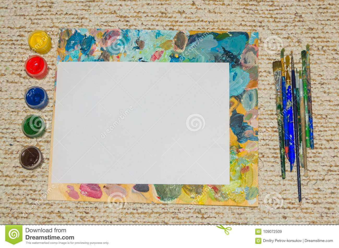 Background, paint and a white sheet, clipart
