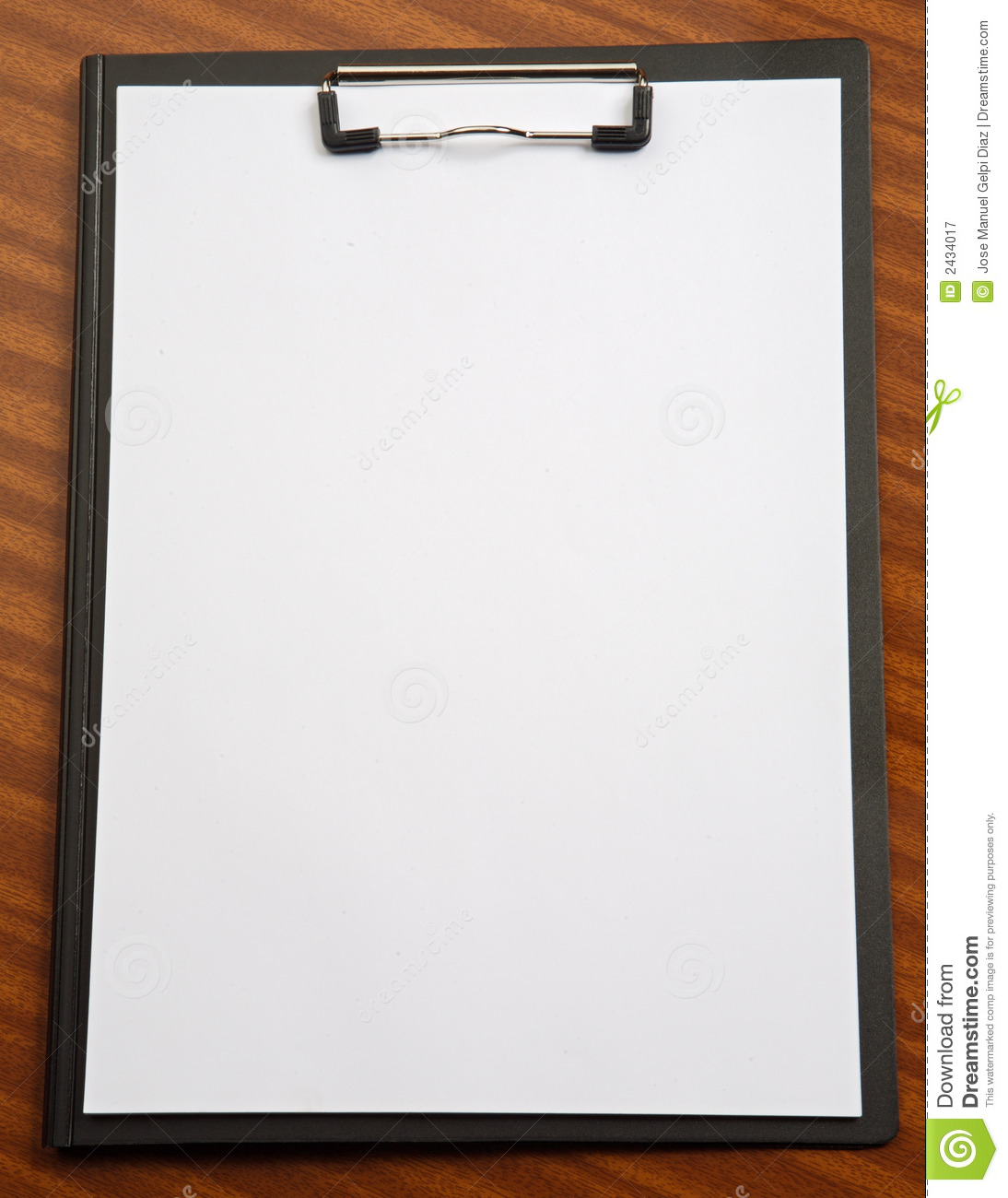 Clipboard royalty free stock photography image 2434017