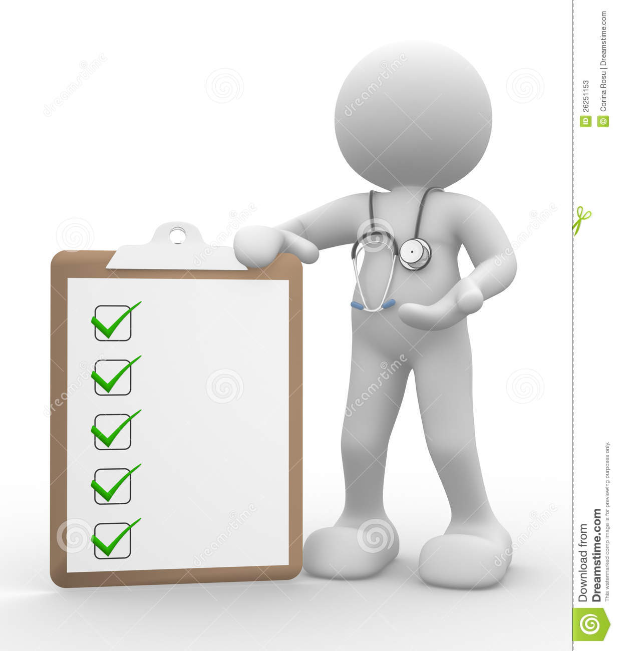 3d people - man, person with clipboard and a stethoscope. Doctor with ...