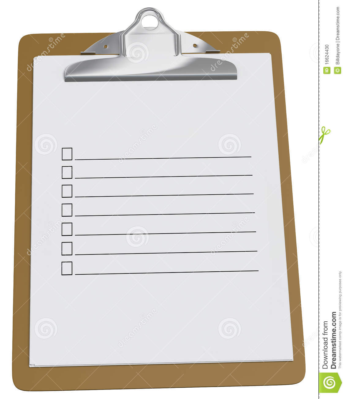 More similar stock images of ` Clipboard with blank checklist `