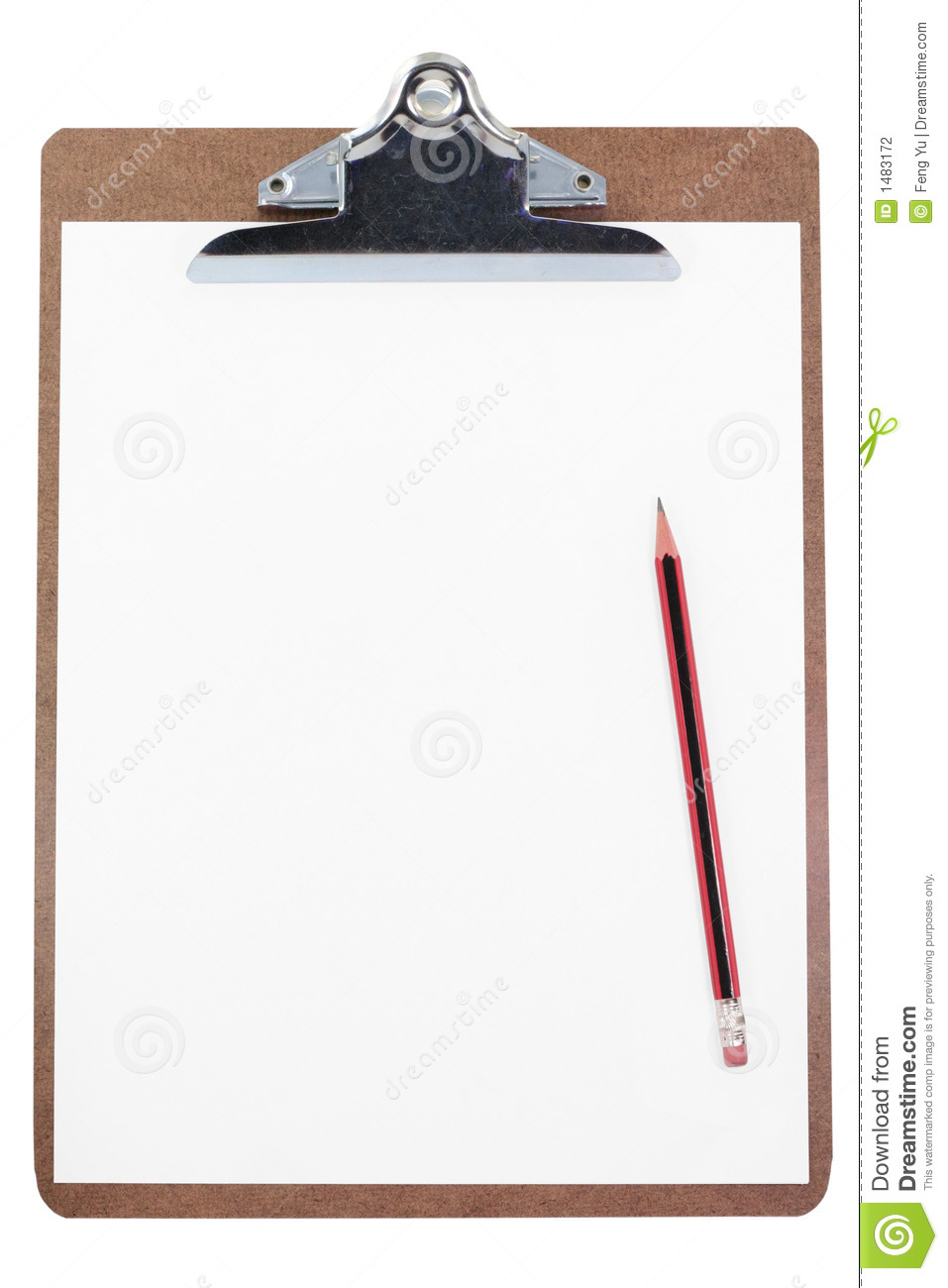 clipboard and blank paper stock photo image of clip information