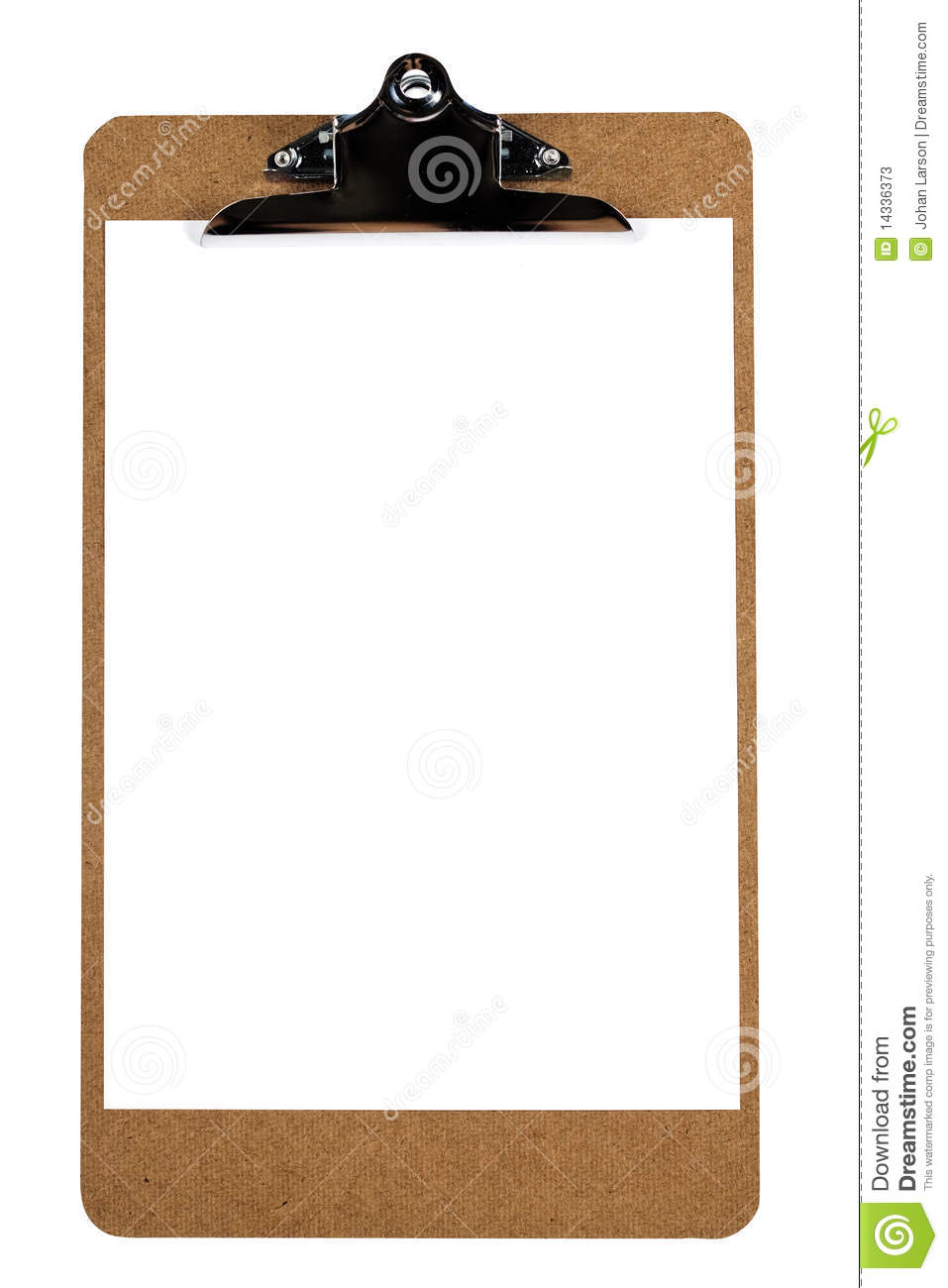 Clipboard With Blank Paper With C Path Stock Photos