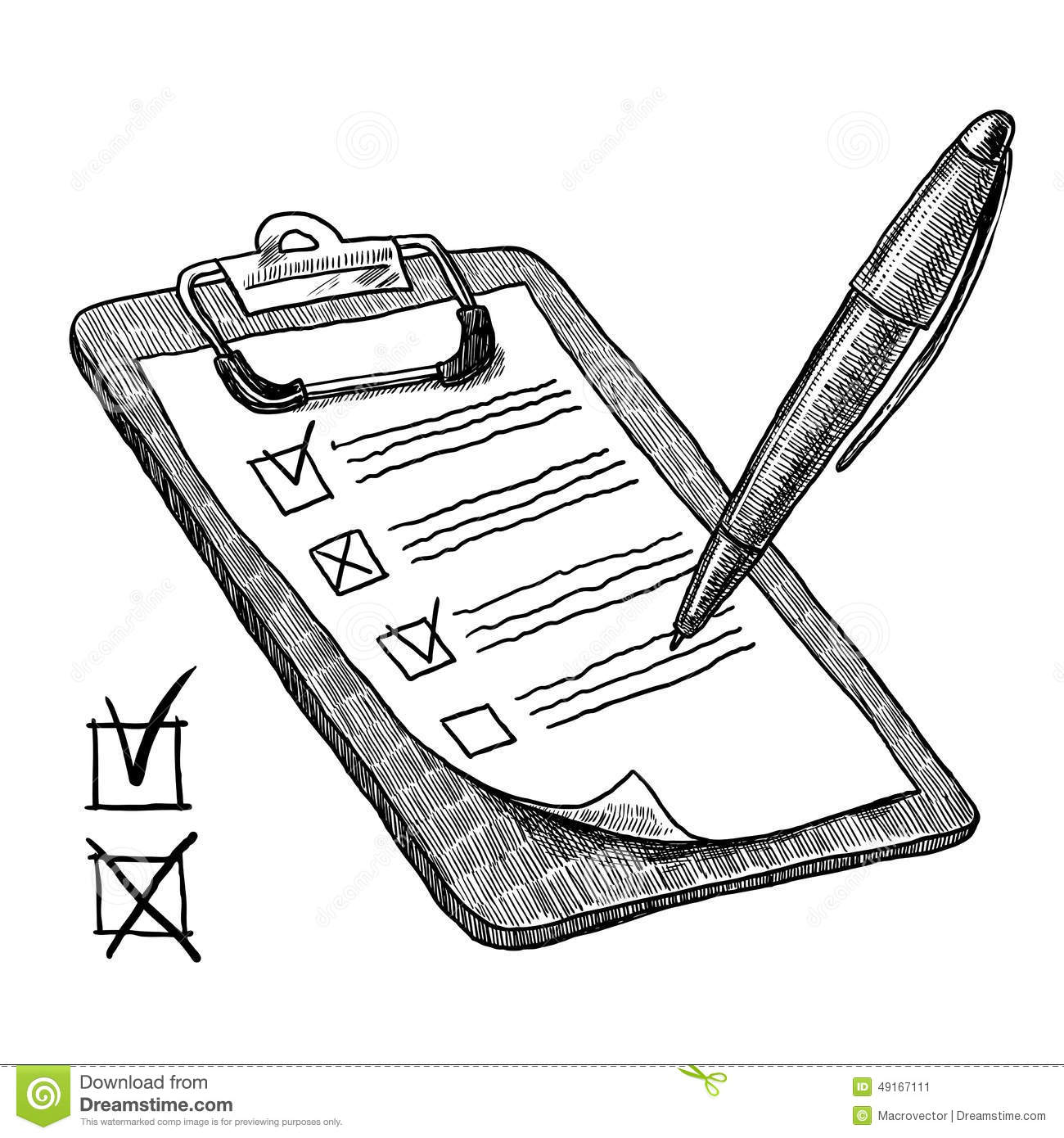 clipboard with check list stock vector  illustration of