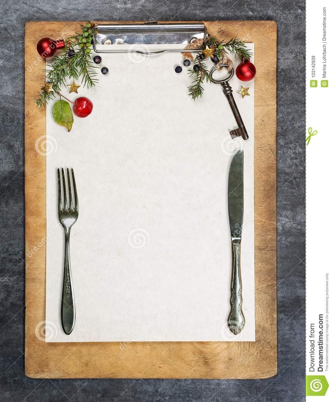 Clipboard With Paper, Copy Space Stock Image - Image of food, frame ...