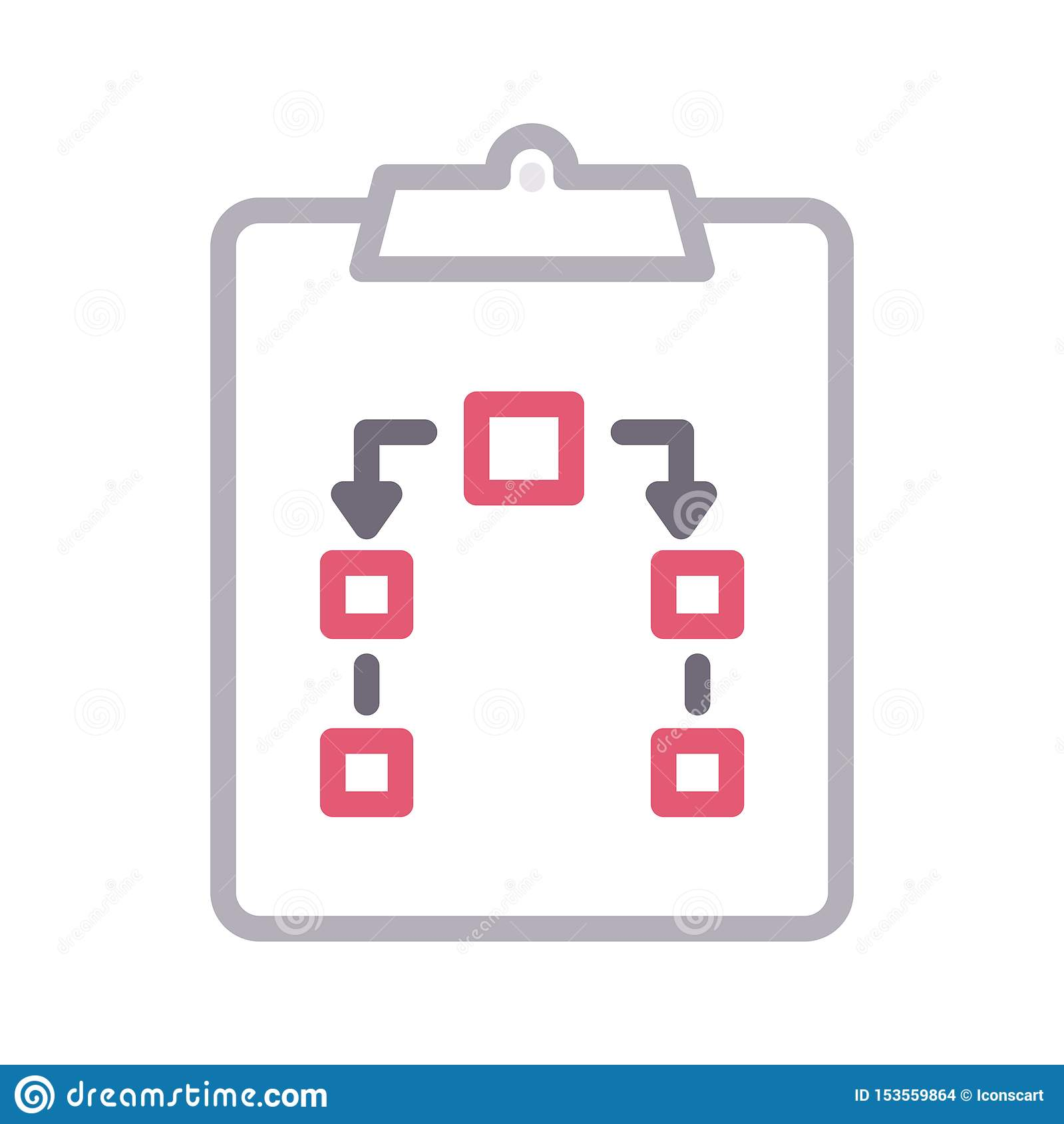 Clipboard colour line vector icon