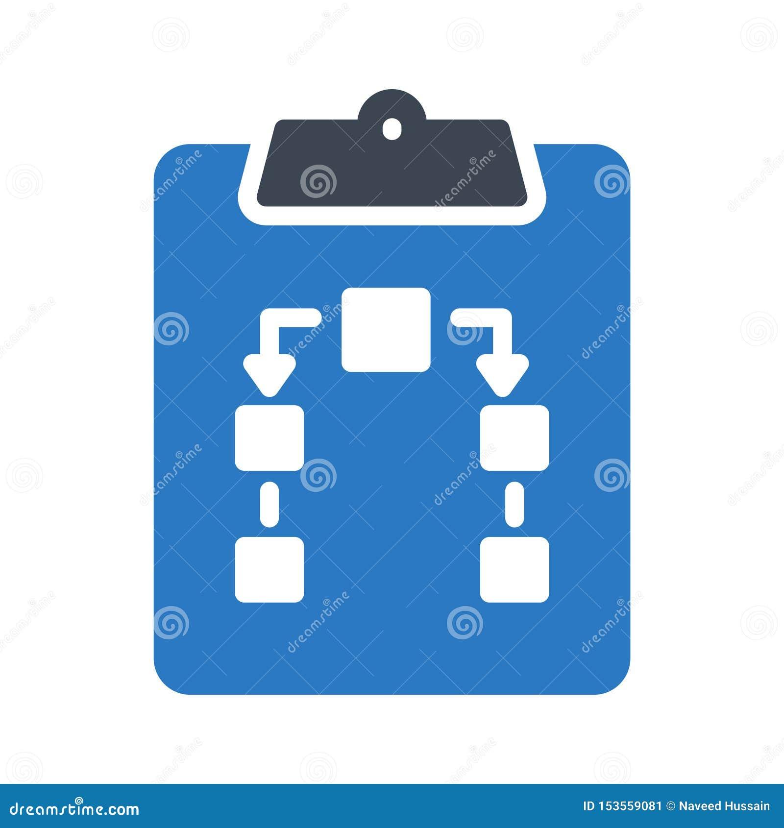 Clipboard glyph colour vector icon