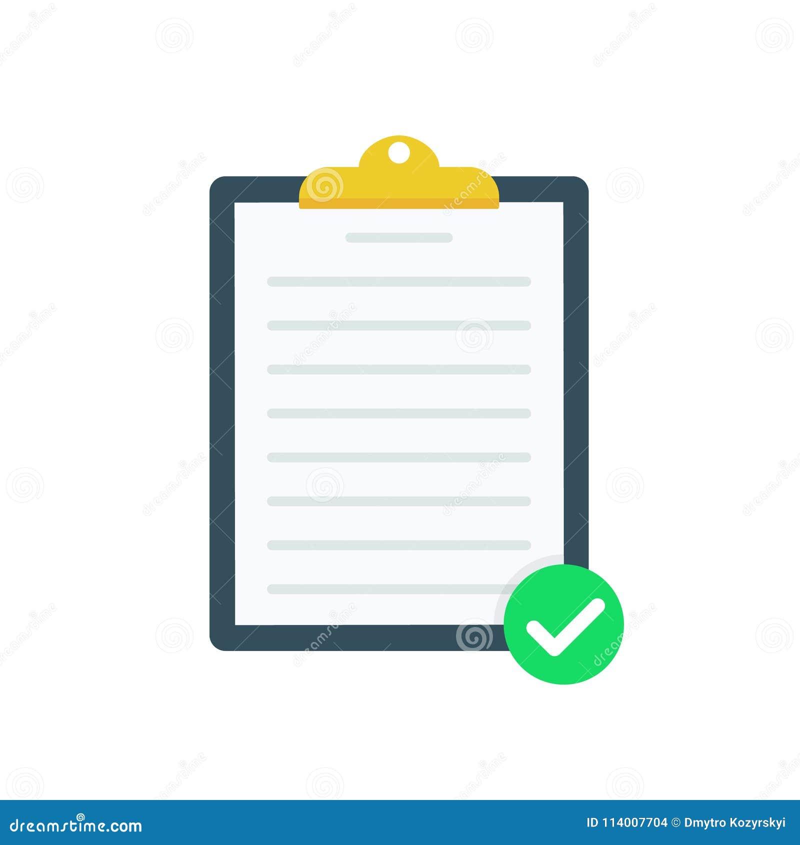 86969e73eca7 Clipboard With Green Tick Checkmarks. Checklist