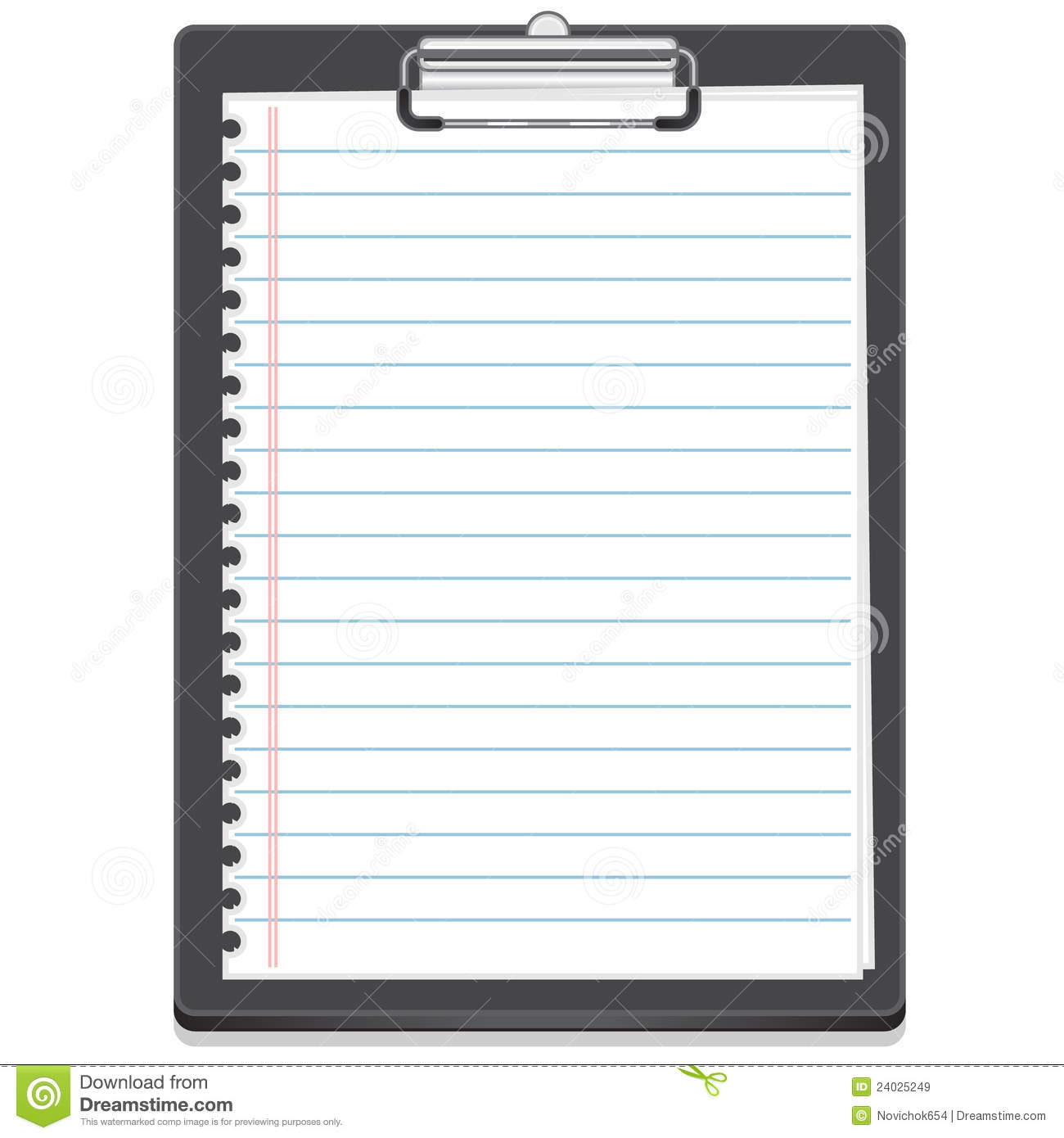 Clipboard Icon With Paper Royalty Free Stock Images - Image: 24025249