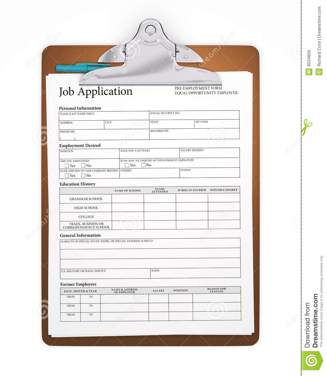 clipboard-job-application-9034656 Job Application Form Or Cv on form for, letter format, print out, sample words,