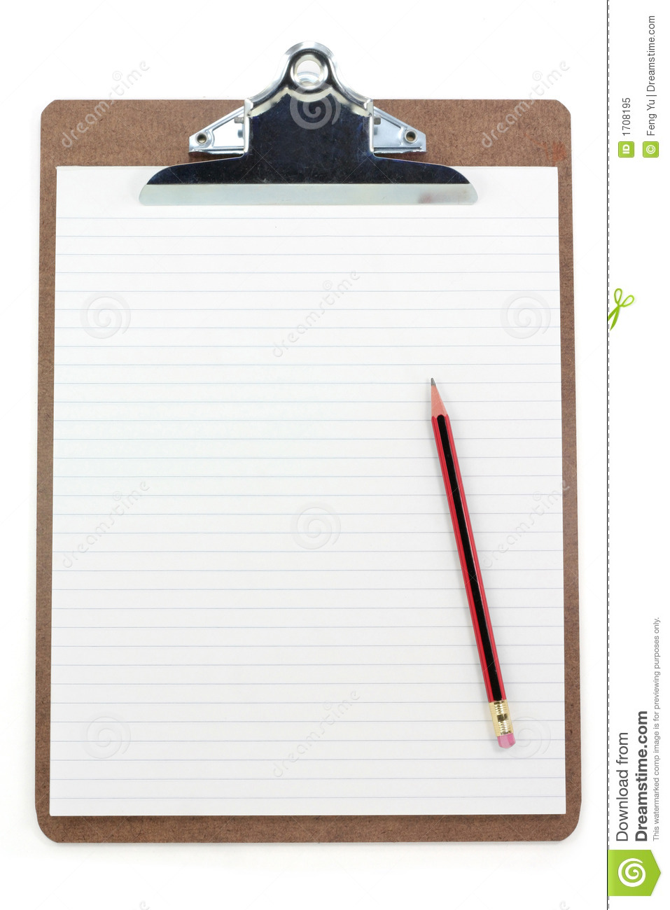 Clipboard And Lined Paper Royalty Free Stock Photo