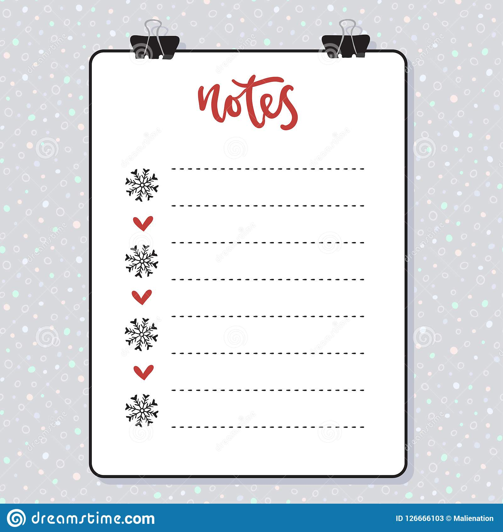 clipboard with lined paper mockup vector template christmas design