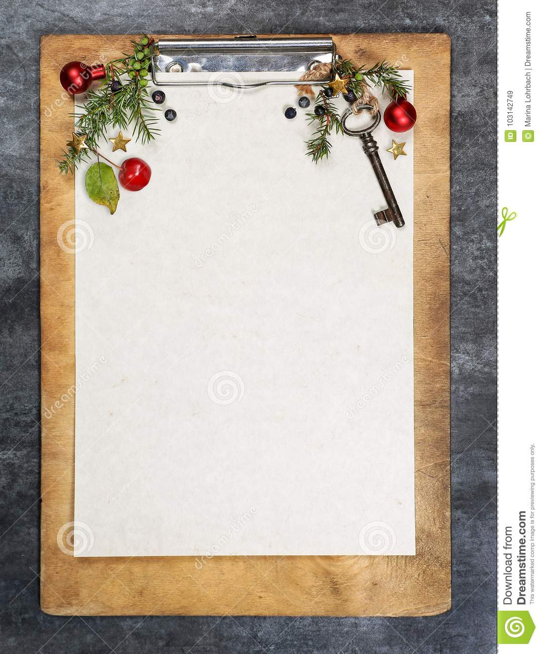 Clipboard With Paper, Copy Space Stock Image - Image of planks ...