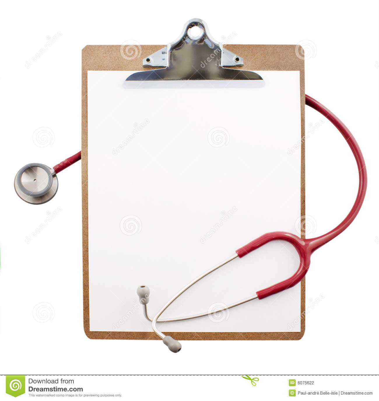 Clipboard With A Stethoscope Stock Photography Image