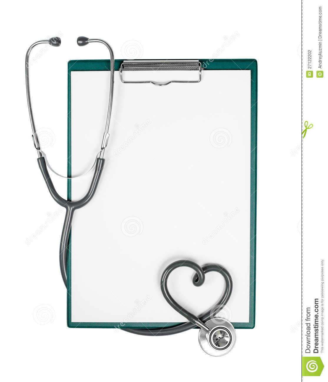 Clipboard And Stethoscope In Heart Shape Stock Photography - Image ...