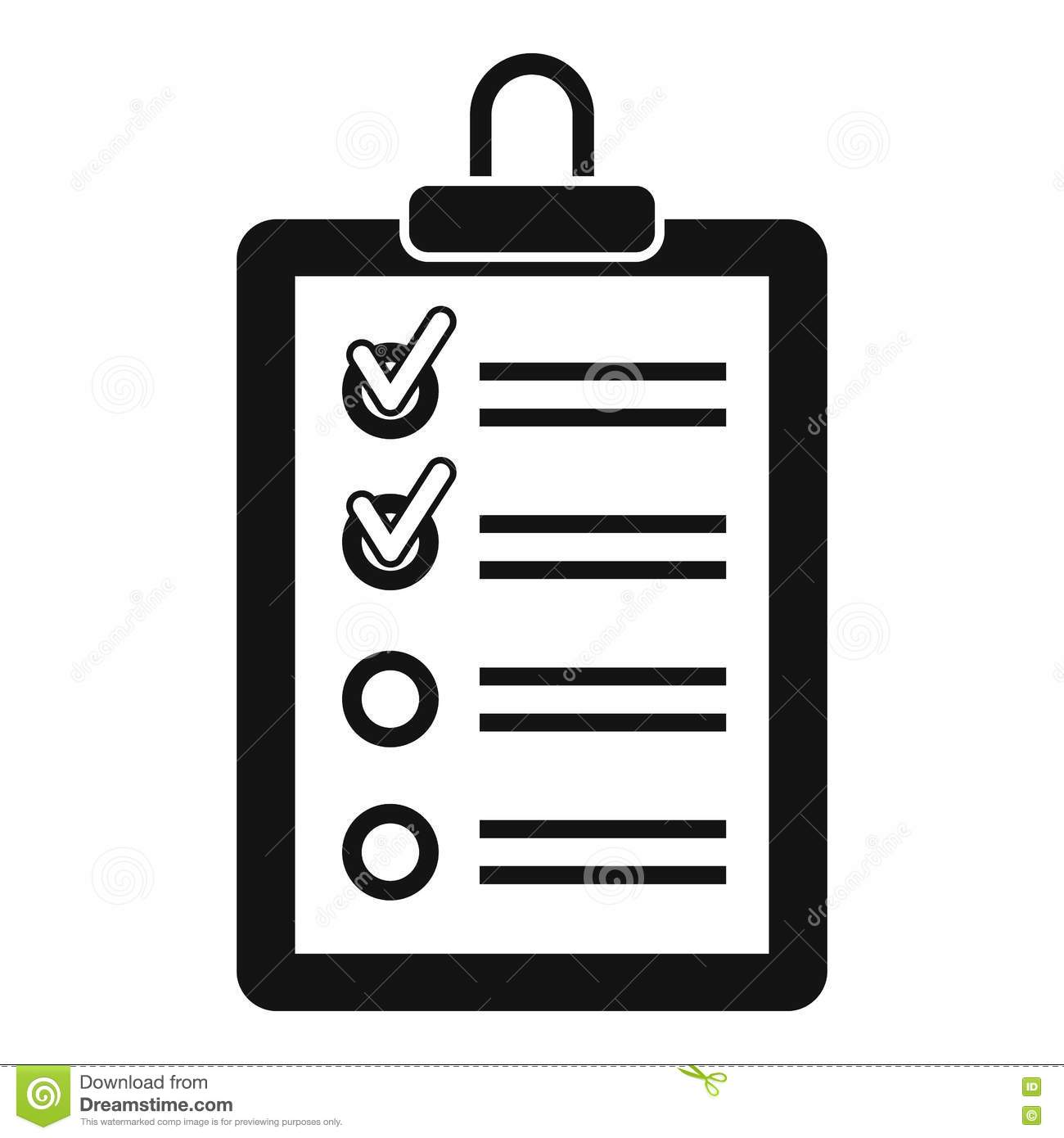 clipboard with to do list icon simple style