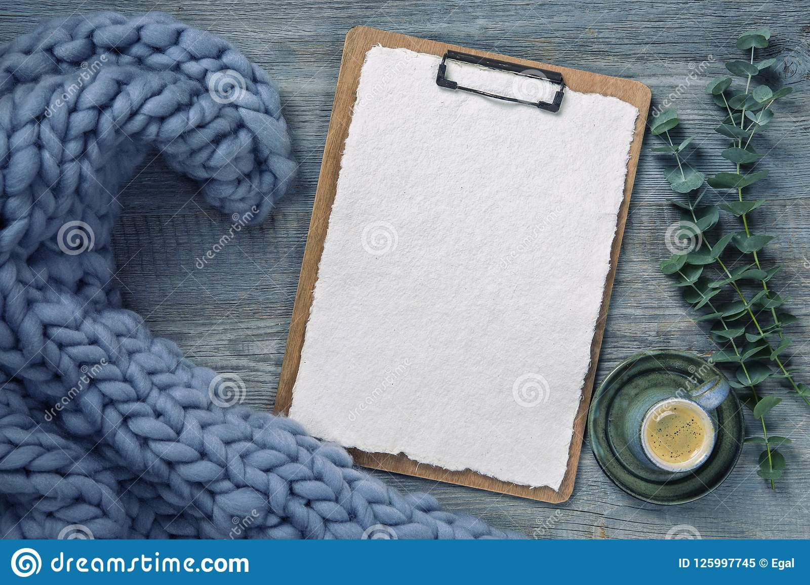 Download Clipboard with white paper stock image. Image of note - 125997745
