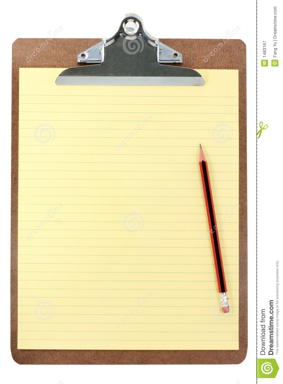clipboard and yellow paper royalty free stock photography