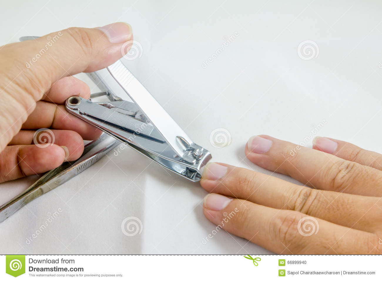 Clipper Cut Middle Finger Nail Stock Photo - Image of health, clip ...
