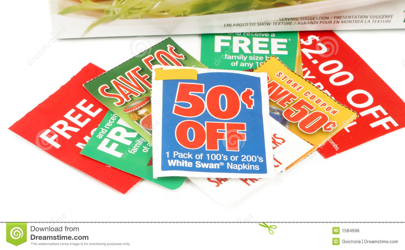 clipping coupons royalty free stock image image 1584696