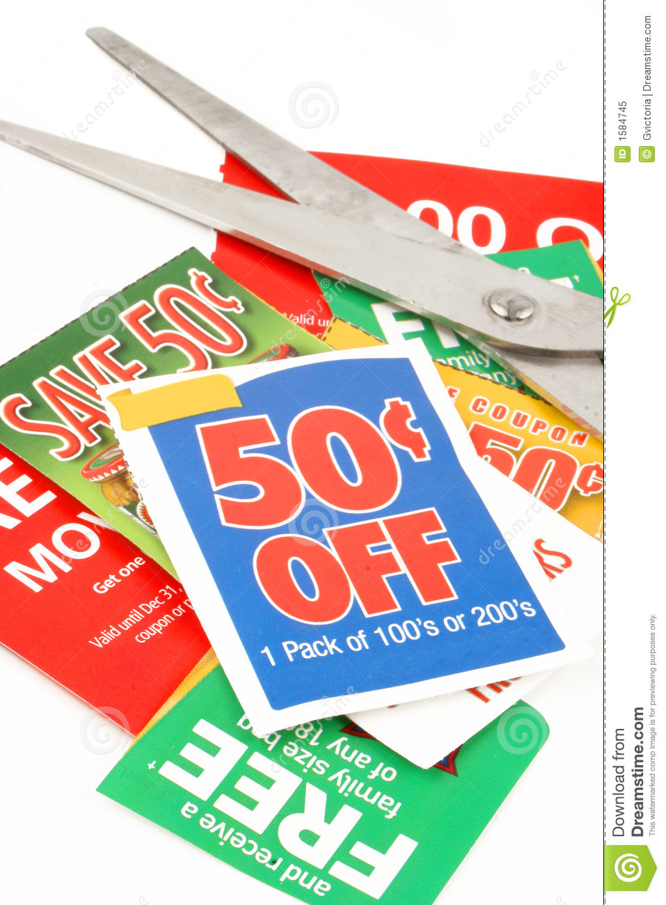 clipping coupons stock image image of store food