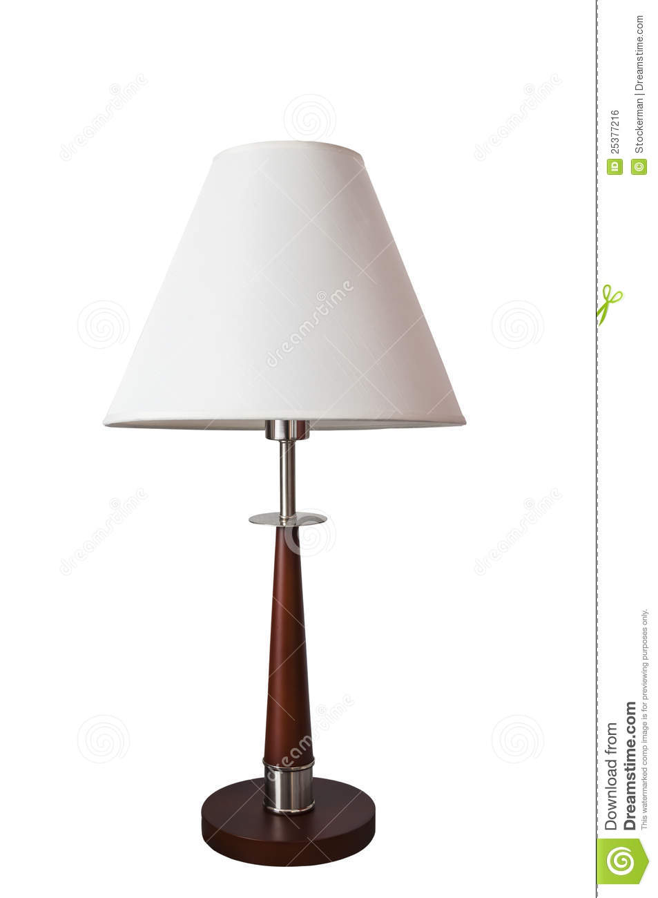 clipping part tall lamp with white shade on white royalty. Black Bedroom Furniture Sets. Home Design Ideas