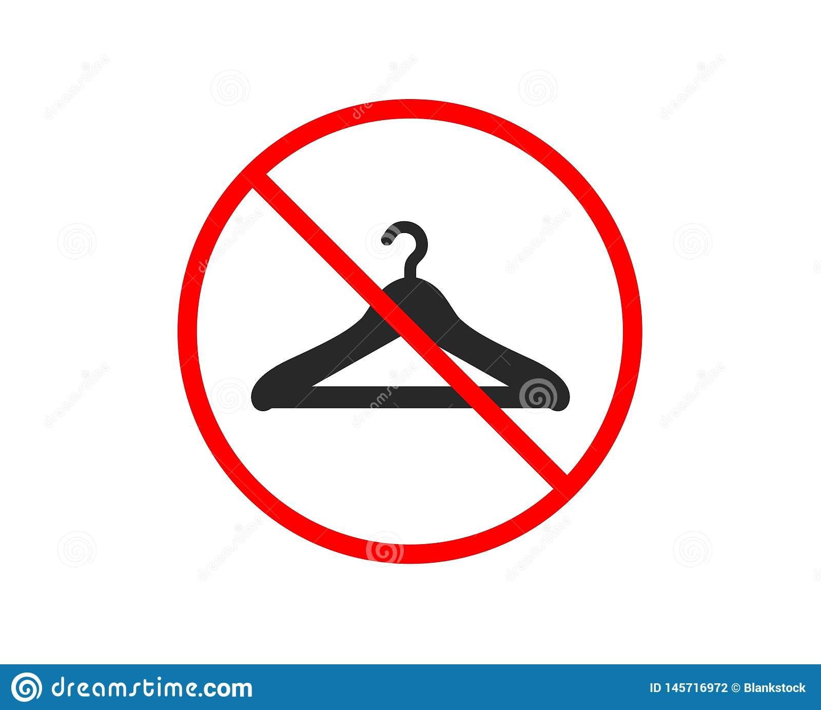 Cloakroom icon. Hanger wardrobe sign. Vector