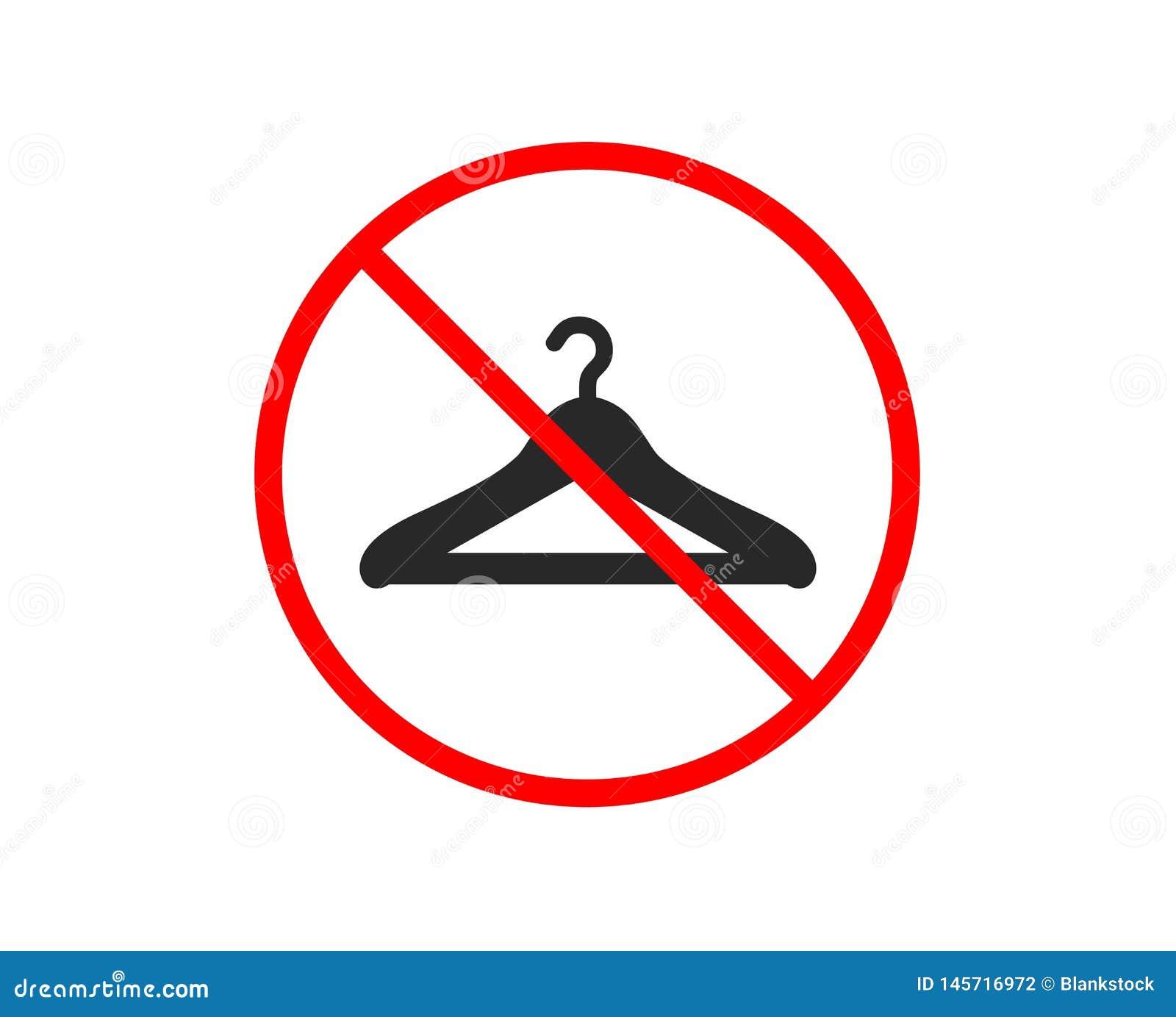 Cloakroom ikona Wieszak garderoby znak wektor