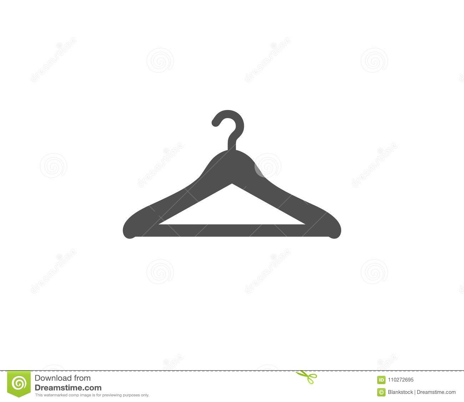 Cloakroom prosta ikona Wieszak garderoby znak